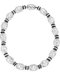 Seaman Schepps - Rock Crystal, Onyx & Diamond Bead Necklace - Lyst