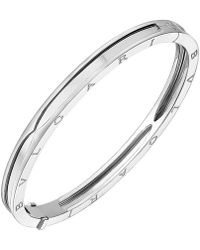 "BVLGARI - 18k White Gold ""bzero1"" Bangle Bracelet - Lyst"