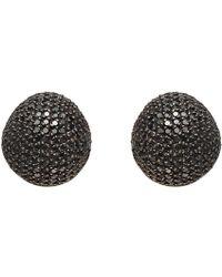 Yossi Harari - Black Diamond Dome Earrings - Lyst