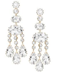 Ivanka Trump - Long Rock Crystal Chandelier Earrings - Lyst