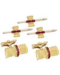 Tiffany & Co | 18k Yellow Gold & Ruby Dress Set | Lyst