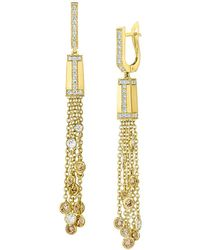 "Ivanka Trump - Multicolored Diamond ""tassel Moderne"" Drop Earrings - Lyst"