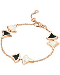 "BVLGARI - Mother-of-pearl & Black Onyx ""divas' Dream"" Bracelet - Lyst"