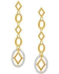 "Ivanka Trump - 18k Gold & Diamond ""affinity"" Long Link Drop Earrings - Lyst"