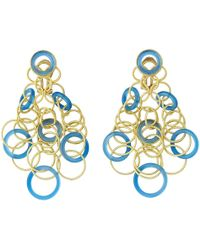 "Buccellati - 18k Yellow Gold & Chalcedony ""hawaii"" Chandelier Earrings - Lyst"