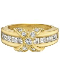 Tiffany & Co | 18k Yellow Gold & Diamond 'x' Band Ring | Lyst