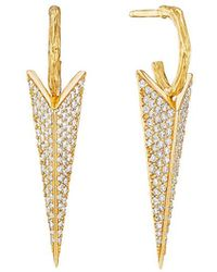 Mimi So - Medium Diamond Bee Stinger Drop Earrings - Lyst