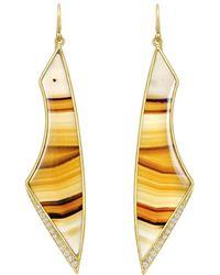 "Kothari - Montana Agate & Diamond ""aura"" Earrings - Lyst"
