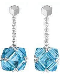 Paolo Costagli - Blue Topaz Chain Drop Earrings - Lyst