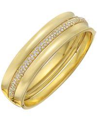 Cartier - 18k Yellow Gold & Diamond Bangle - Lyst