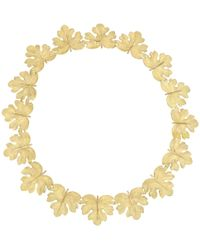 Buccellati - 18k Yellow Gold Leaf Link Necklace - Lyst