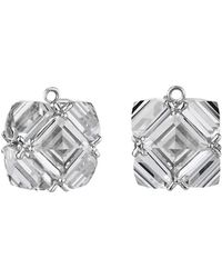 Paolo Costagli - White Topaz Square Earring Pendants - Lyst