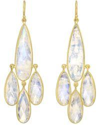 Kothari - Rainbow Moonstone Chandelier Earrings - Lyst