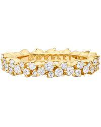 "Paul Morelli - Small 18k Yellow Gold & Diamond ""confetti"" Band Ring - Lyst"