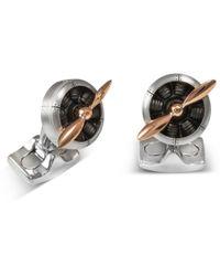 Deakin & Francis - Aluminum & Rose Gold Propeller Cufflinks - Lyst