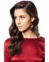 bevello - Geometric Tassel Earring - Lyst