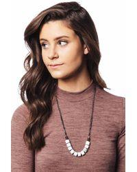 bevello - Half Bead Chain Necklace - Lyst