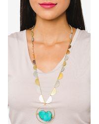 bevello - Half Circle Stone Necklace - Lyst