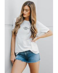 BRUNETTE the Label - Babes Support Babes Tee - Lyst