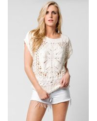 Free People - Diamond In The Rough Sweater - Lyst