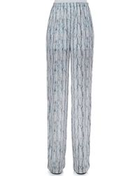 Theyskens' Theory Prim Silk Multiprint Pants - Lyst
