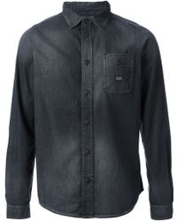 Diesel Gray Denim Shirt - Lyst