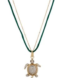 Betsey Johnson - Crystalencrusted Turtle Pendant Necklace - Lyst