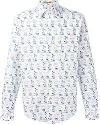 Peter Jensen - X Peanuts Charlie Brown And Linus Print Shirt - Lyst