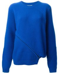 Opening Ceremony Felted Asymmetric Zip Sweater - Lyst