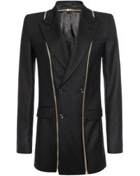 Alexander McQueen Double Breasted Zip Detail Jacket - Lyst