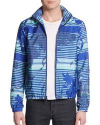 Michael Kors Printed Windbreaker Jacket - Lyst