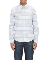 Theory Plaid Shirt - Lyst
