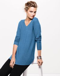 Eileen Fisher V-Neck Wool Sweater - Lyst