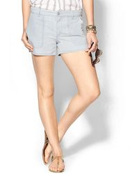 Vince Chambray Short - Lyst