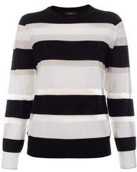 Paul Smith Black Sheer Stripe Merino Wool Sweater - Lyst