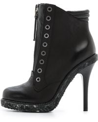 L.A.M.B. - Dayton Zip Booties Black - Lyst