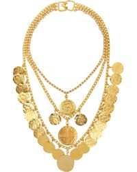 Kenneth Jay Lane Goldplated Coin Necklace - Lyst