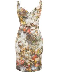Vivienne Westwood Red Label Multicolour Duchesse Floral Print Dress - Lyst