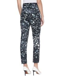 Badgley Mischka Mineralprinted Cropped Pants - Lyst