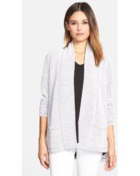 Eileen Fisher Cotton Blend Kimono Cardigan - Lyst