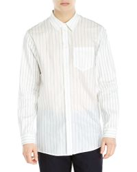 Ann Demeulemeester Patch Pocket Printed Sport Shirt - Lyst