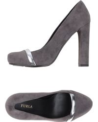 Furla - High-Heel Grey Platform Courts - Lyst