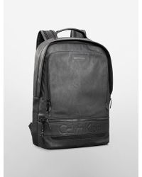 Calvin Klein Black Asher Backpack - Lyst