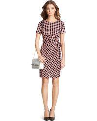 Diane von Furstenberg Zoe Short Sleeve Silk Jersey Dress - Lyst