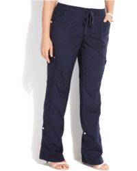 5ba967974bb INC International Concepts - Plus Size Convertible Cropped Cargo Pants -  Lyst