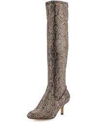 Donald J Pliner Yazi Fabric Knee Boot - Lyst