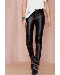 Nasty Gal Bad Company Vegan Leather Leggings - Lyst