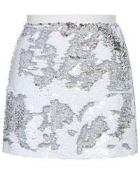 Topshop Brushed Sequin Mini Skirt - Lyst