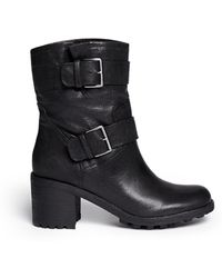 Sam Edelman Troy Leather Ankle Boots - Lyst