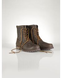 Polo Ralph Lauren Leather Whitsand Boot brown - Lyst